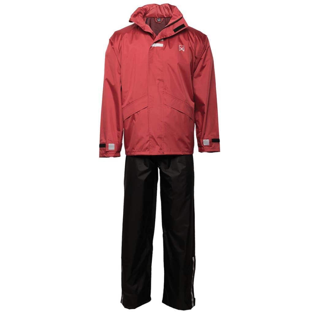 Afbeelding van Willex Regenpak maat L rood en zwart 29150