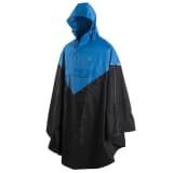 Willex Poncho de pluie avec capuche Taille S/M Bleu et noir 29219