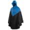 Willex Poncho de lluvia con capucha talla S/M azul y negro 29219