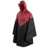 Willex Poncho de pluie avec capuche Taille S/M Rouge et noir 29221