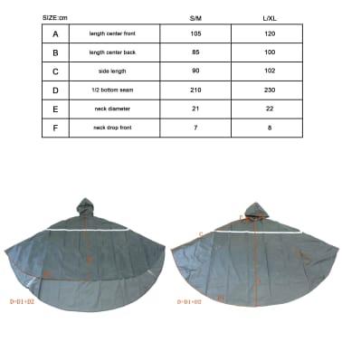 Willex Poncho de pluie avec capuche Taille S/M Rouge et noir 29221[2/2]