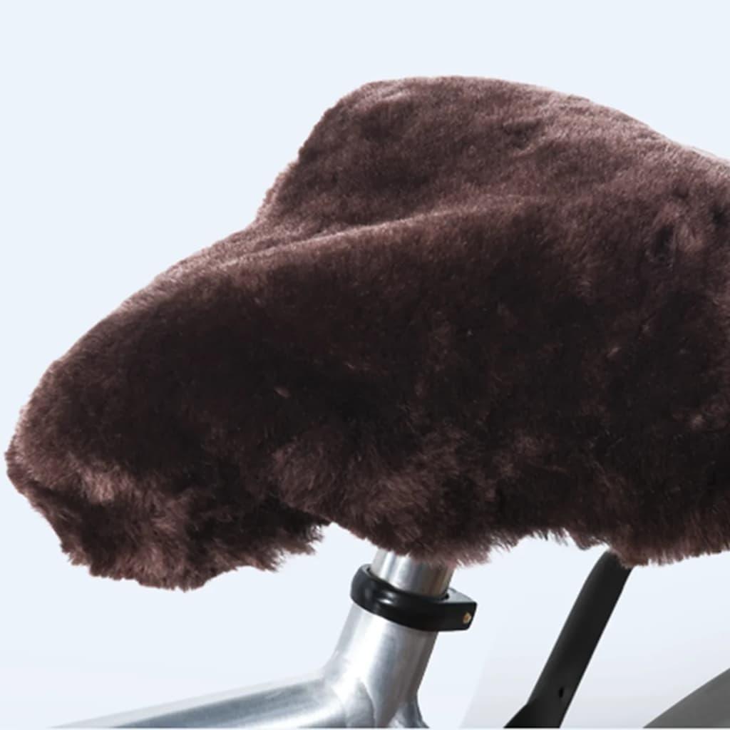 Willex Husă pentru șa bicicletă, piele de oaie, maro poza 2021 Willex