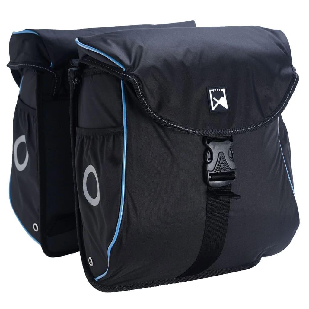 Willex Fietstassen 300 Flexi 24 L zwart en blauw
