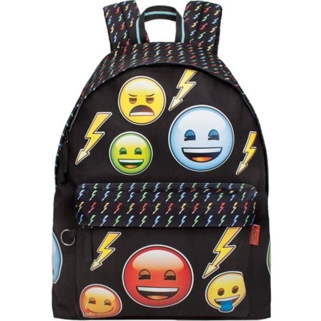Afbeelding van Emoji Bolt Rugzak meisjes zwart 18 liter