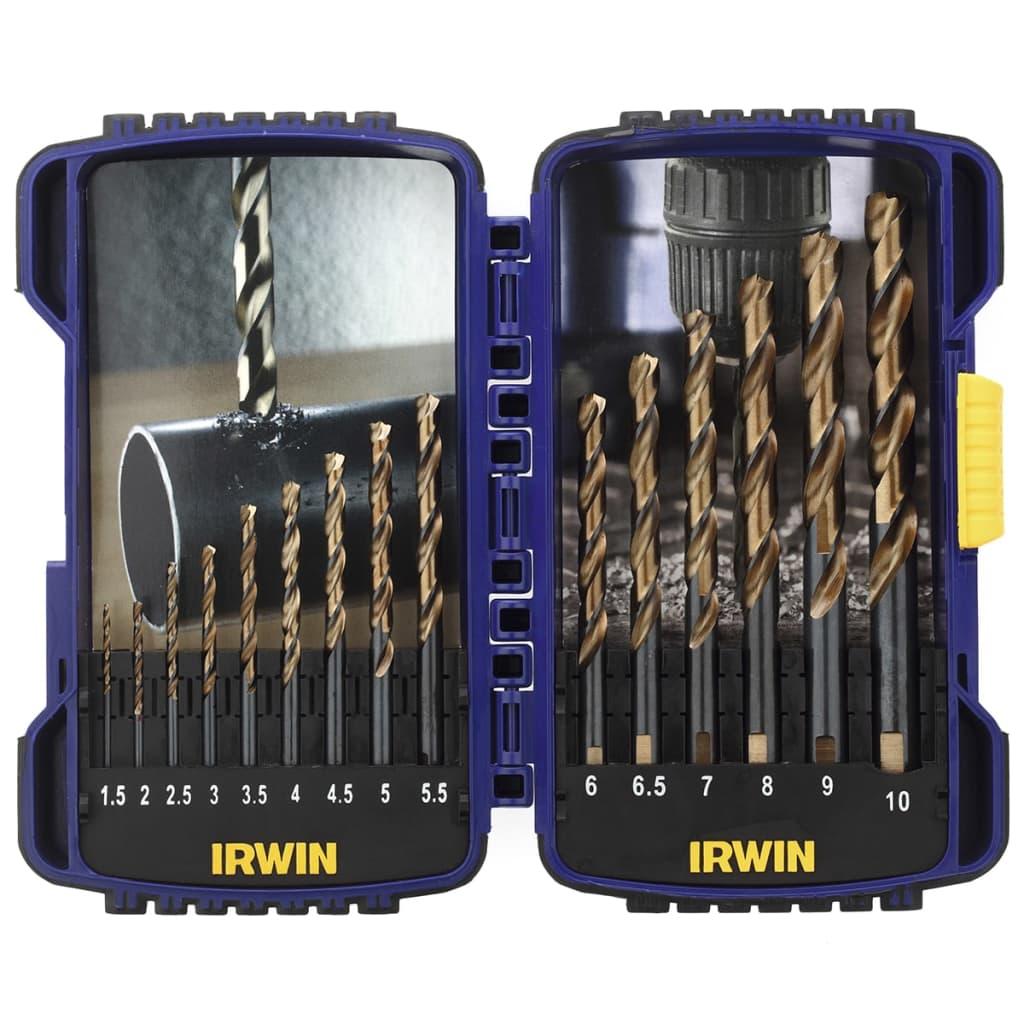Irwin HSS Turbomax borenset 15-delig 1,5 tot 10 mm 10503992