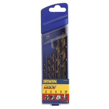 Irwin Zestaw wierteł HSS Turbomax, 4/5/6/8/10 mm, 5 szt., 10502234[2/2]