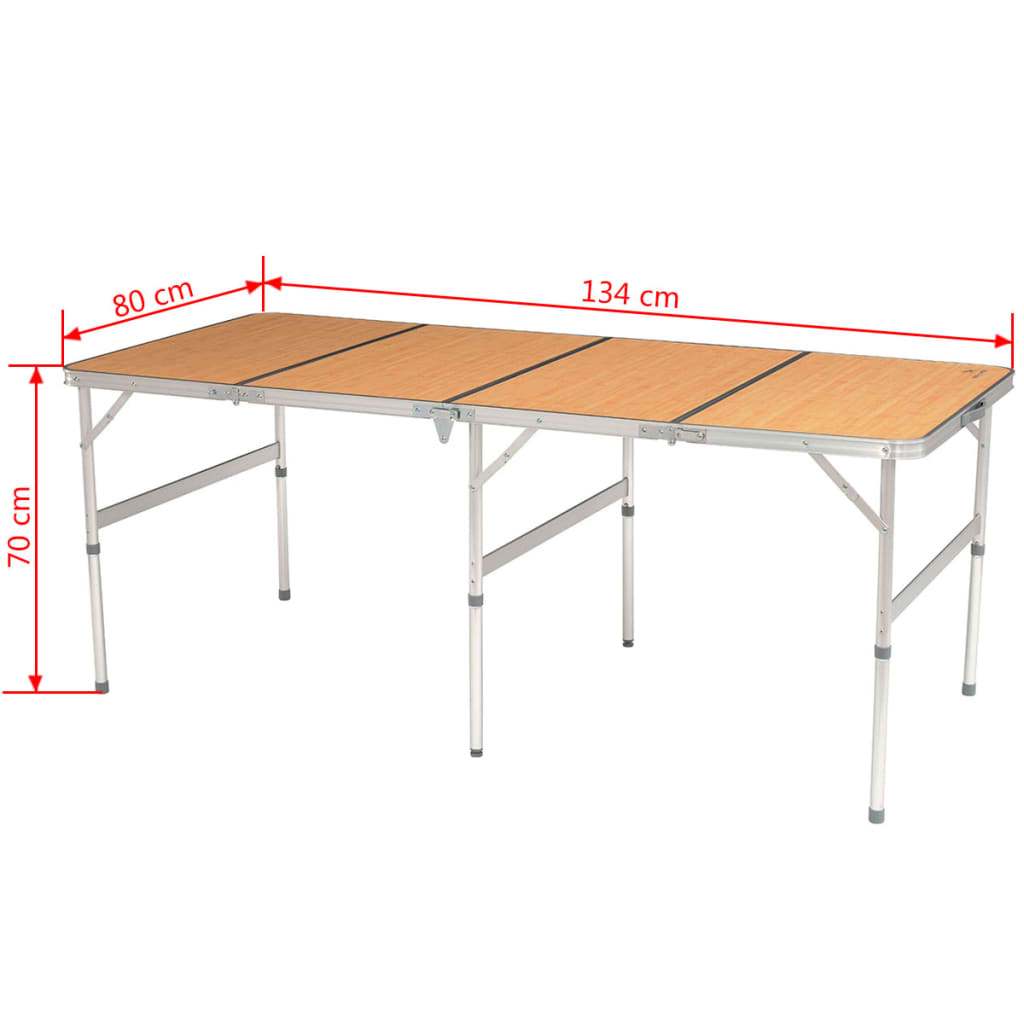 OUTWELL bambou table Kamloops table pliante table de camping 72x100cm