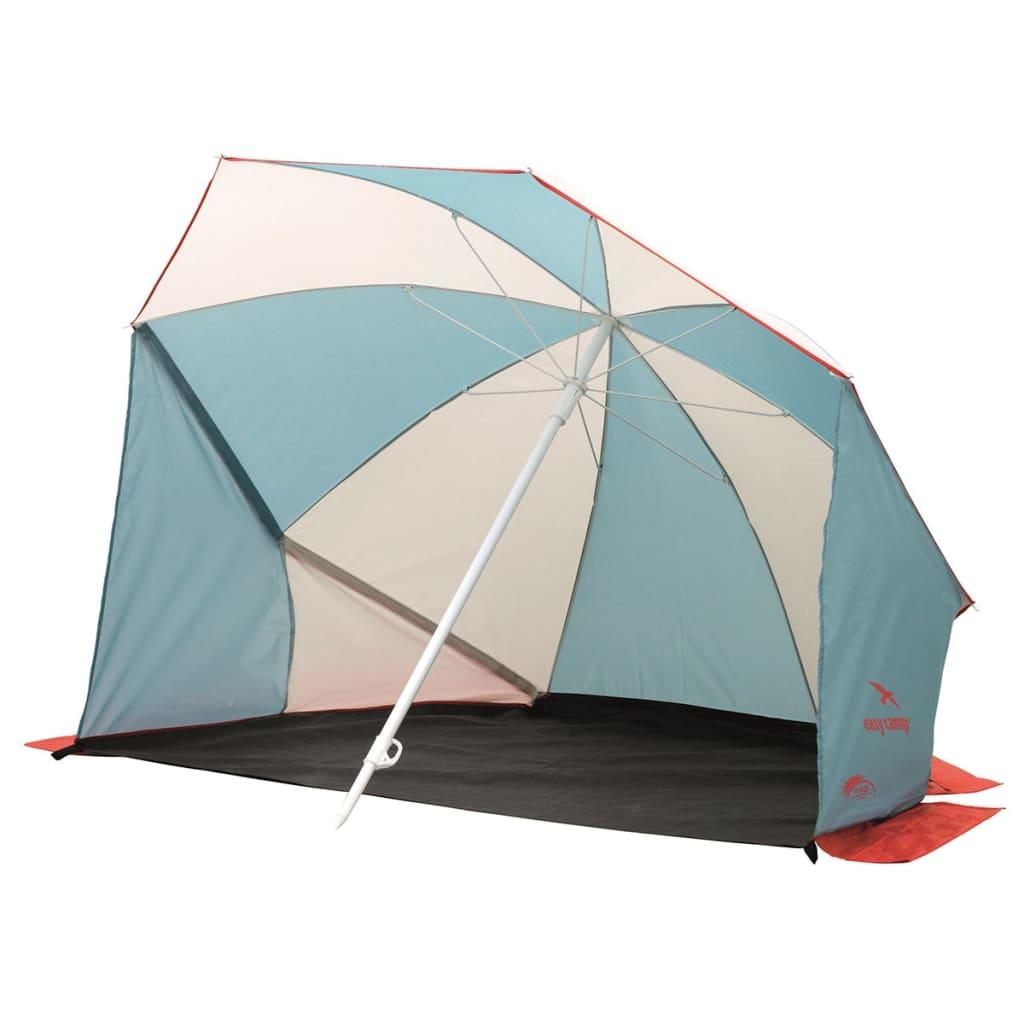 Easy Camp Adăpost umbrelă plajă Coast, gri și albastru, 120298 vidaxl.ro