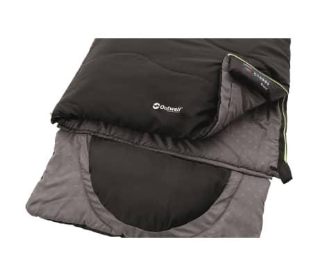 Outwell Saco de Dormir 225x90 cm Negro Aire Libre Camping Senderismo Exterior