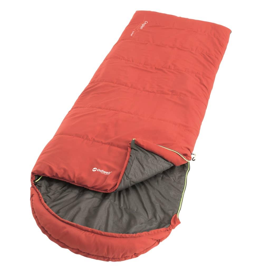 Outwell Sac de dormit Campion Lux, roșu, 225 x 85 cm poza vidaxl.ro