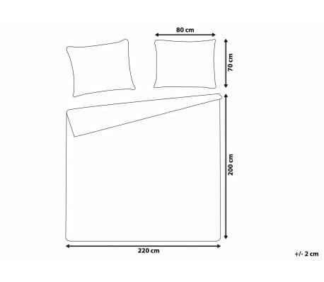 Påslakanset 200 x 220 cm grå PESCINO[3/10]