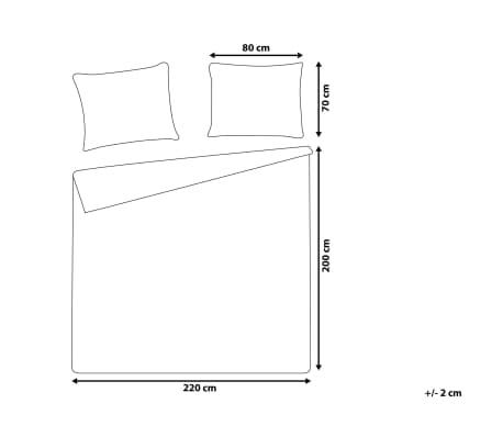 Påslakanset 200 x 220 cm grå PESCINO[6/10]
