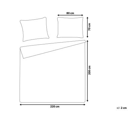 Påslakanset 200 x 220 cm grå PESCINO[10/10]