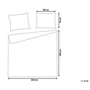 Påslakanset 200 x 220 cm grå PESCINO[7/10]