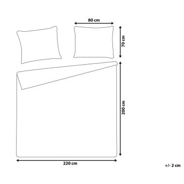 Påslakanset 200 x 220 cm grå PESCINO[8/10]