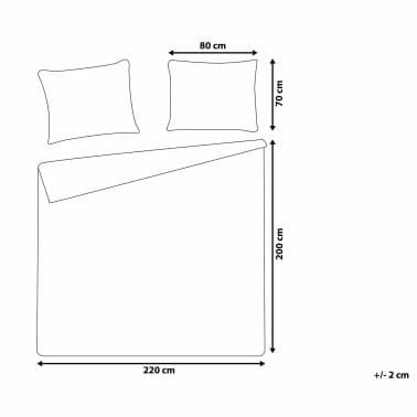 Påslakanset 200 x 220 cm grå PESCINO[9/10]