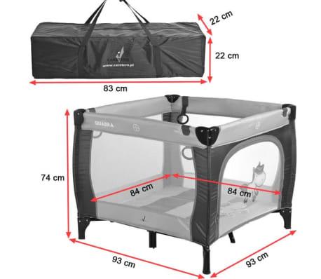 QUADRA Parc bébé de voyage pliant de 0 à 15 kg Marron[3/5]