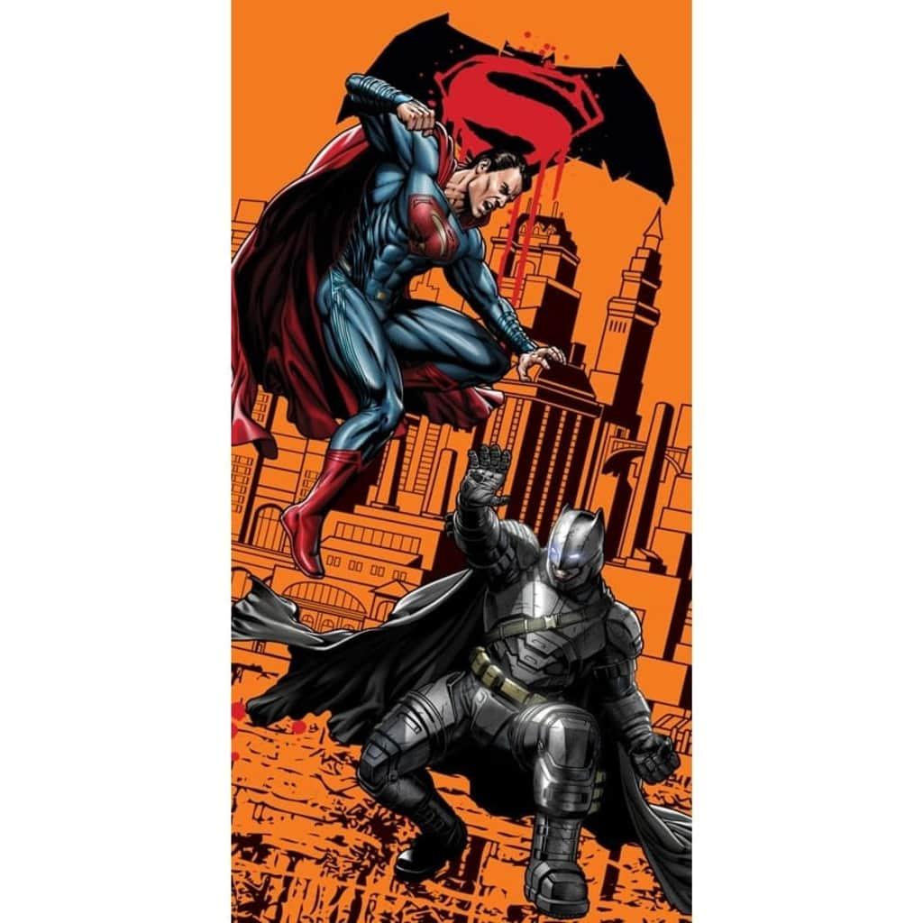 Afbeelding van DC Comics badlaken Batman oranje 70 x 140 cm