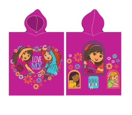 Nickelodeon badponcho Dora roze 115 x 50 cm[1/1]