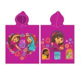 Nickelodeon badponcho Dora roze 115 x 50 cm