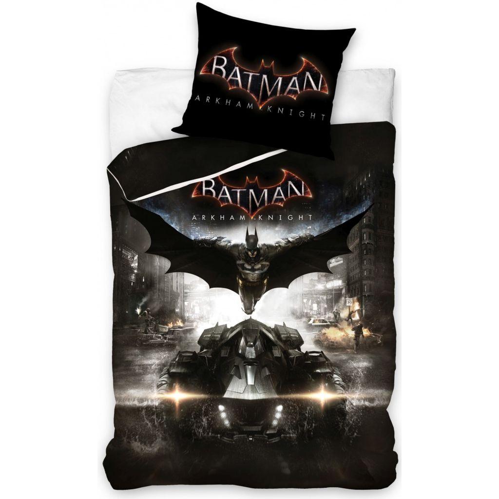 Afbeelding van DC Comics dekbedovertrek Batman Arkham 140 x20 0x 80 cm zwart