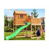 Station de jeux pour enfants en bois séché lasuré Bonifacio