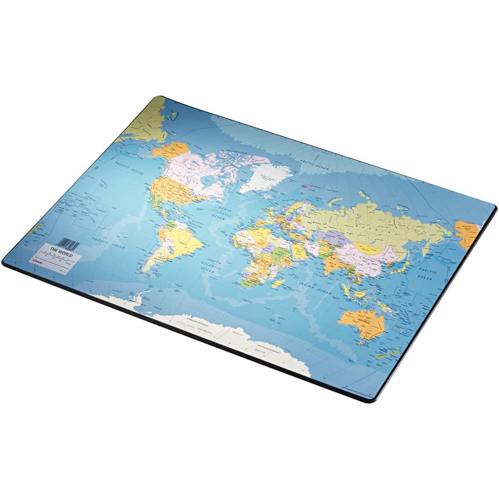 Esselte skriveunderlag Europost verdenskort 40x53 cm