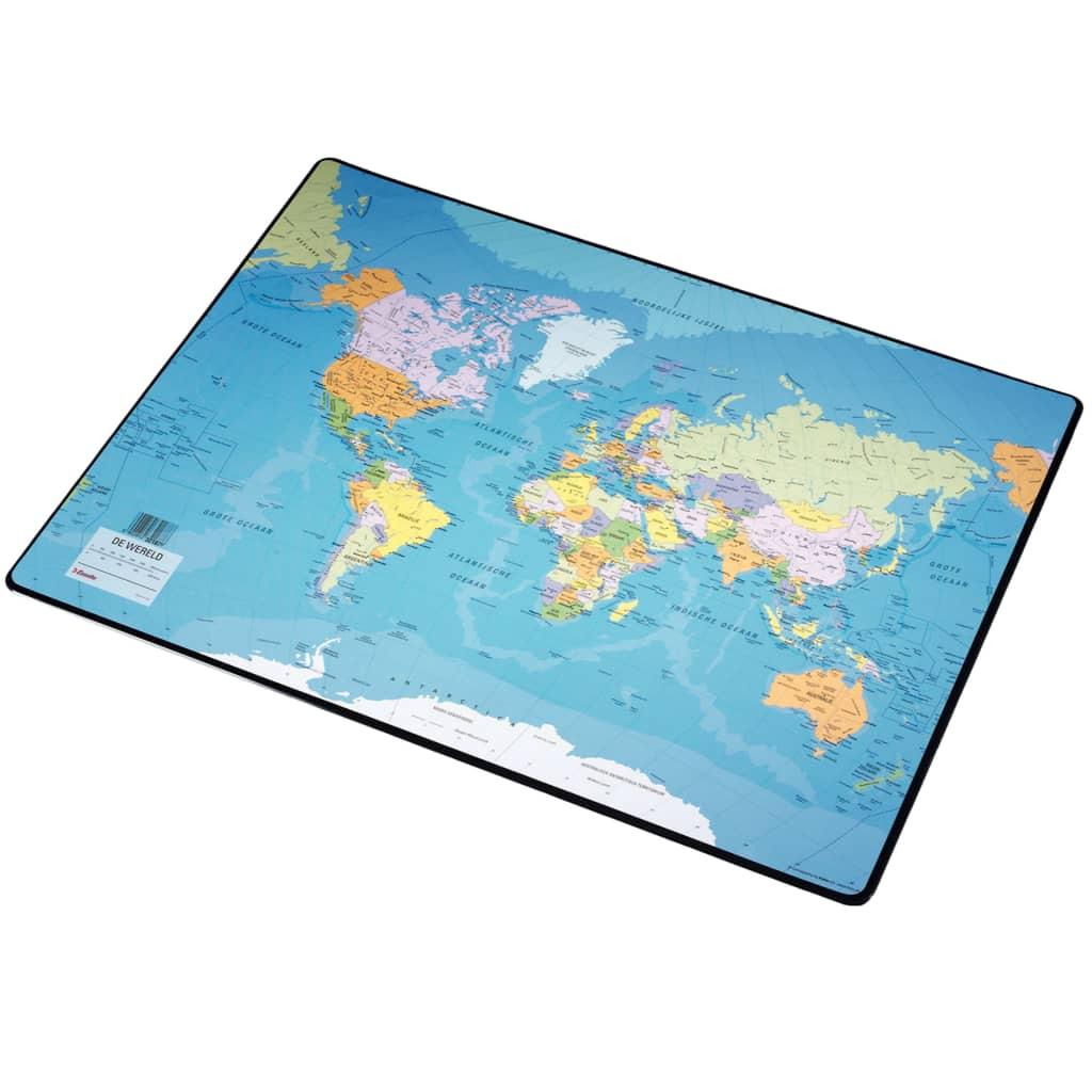 Esselte skriveunderlag verdenskort 41x54 cm