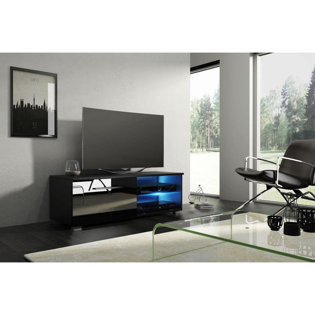 Vivaldi Furniture MOON 2 TV bänk svart med LED belysning