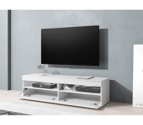 TV-Möbel TV-Möbel Kubrick 140 cm Korpus weiß Front weiß hochglanz