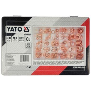 YATO Set de arandelas de cobre 300 piezas YT-06872[2/3]