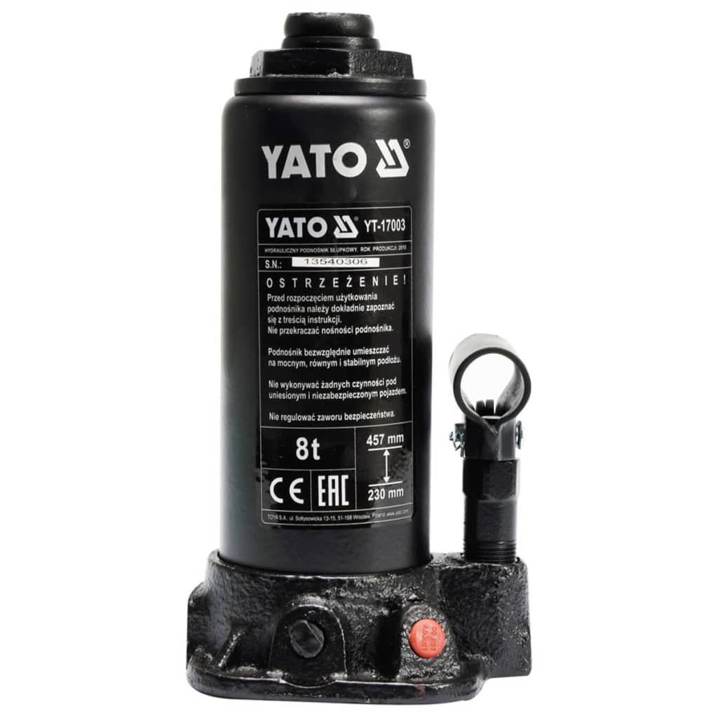 YATO Hydraulický pístový hever, 8 tun, YT-17003