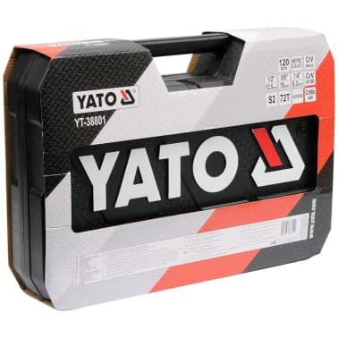YATO 120-tlg. Ratschen-Steckschlüssel-Set YT-38801[3/4]