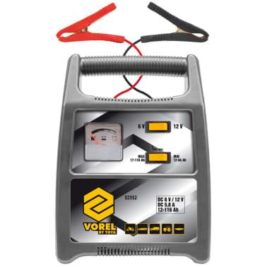 VOREL Cargador de baterías de coche 116 Ah plateado 82552[2/2]