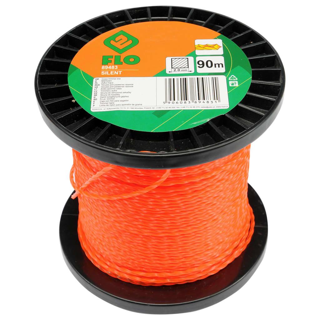 FLO Maaidraad Silent 2 mm 90 m oranje