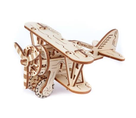 Wooden City Houten 3D-puzzel vliegtuig 14 cm
