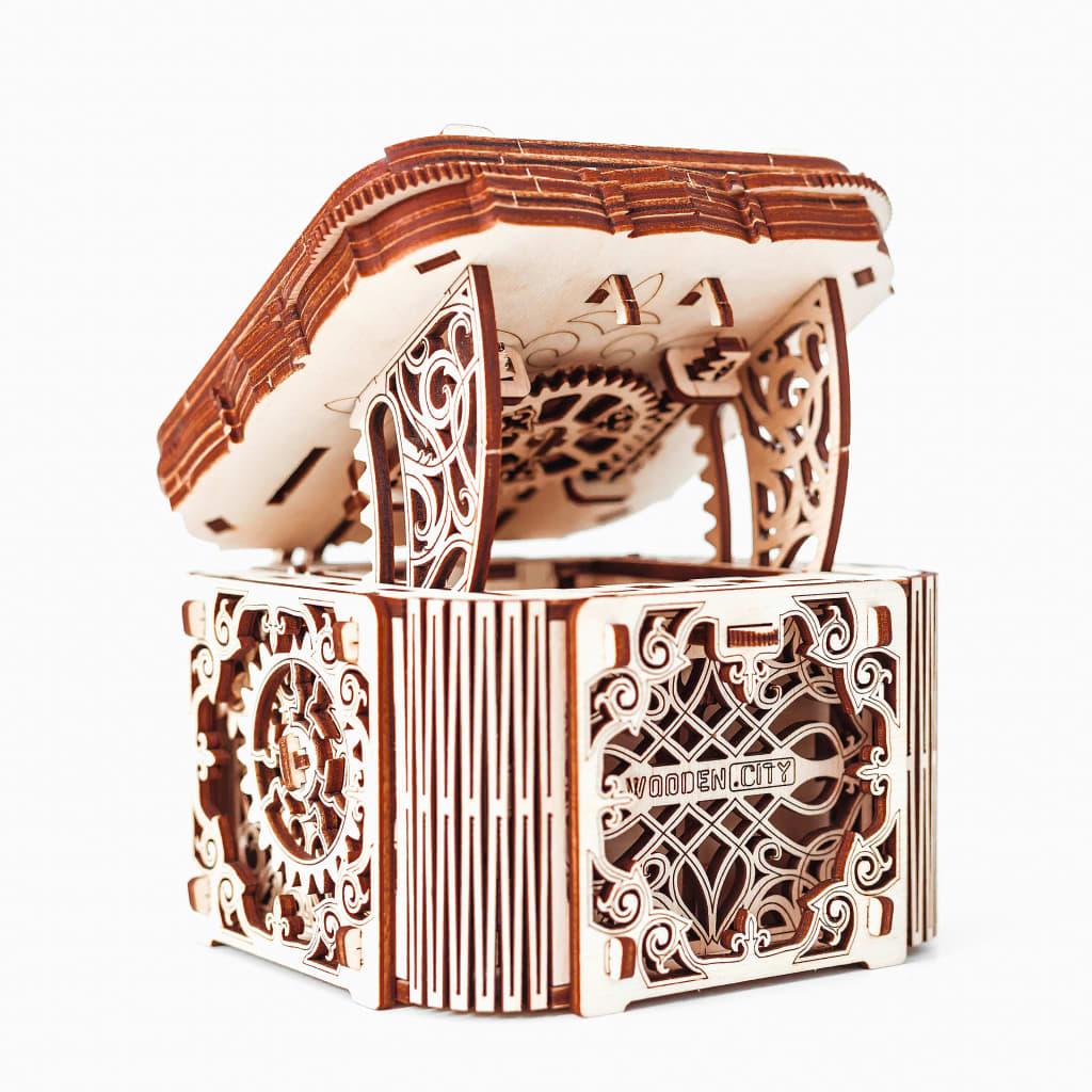 WOODEN CITY Kit machetă de cutie misterioasă, lemn vidaxl.ro