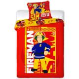 Fireman Sam Ensemble de housse de couette pour enfants 200x140 cm