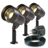 Garden Lights LED-spotlight Corvus aluminium 3 st 3154013