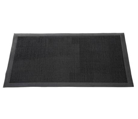 Covor intrare Fingertip 45x75 cm, cauciuc negru