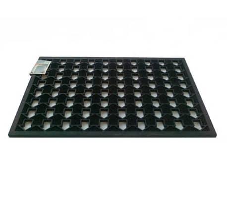Covor intrare In Out 45x75 cm din cauciuc, negru