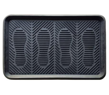 Tăviţă încălţăminte din cauciuc, negru, 40x60 cm