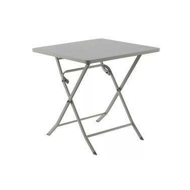 Table pliable OREGON carré galet - Dim: L70 x D70 x H71cm[1/1]