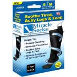 Stödstrumpa, Kompressionsstrumpa, Miracle Socks,1-Par, Svart