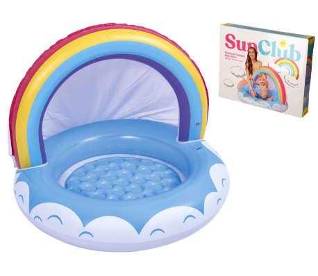 Baby Pool 1-3 Jahre - Pool mit Regenbogen - 95x66cm