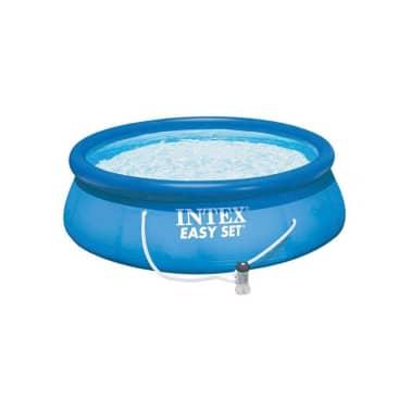 Intex rond zwembad met filteringsysteem online kopen for Zwembad rond 3 meter intex
