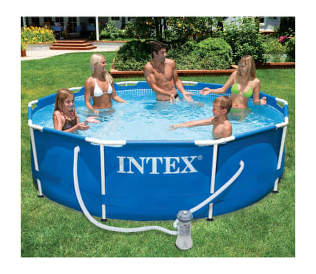 Acheter piscine avec ch ssis en m tal 305 x 76 cm intex for Piscine intex solde