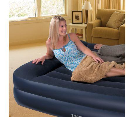 acheter matelas lit gonflable floqu avec pompe int gr e 2 personnes pas cher. Black Bedroom Furniture Sets. Home Design Ideas
