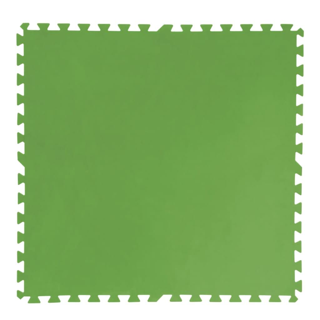 Bestway Protecții podea piscină 8 buc, 81 x 81 cm, verde, 58265 poza 2021 Bestway