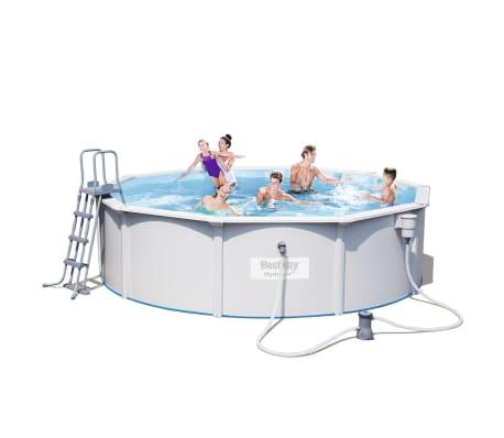 acheter bestway piscine jersey ronde gris 460 cm pas cher. Black Bedroom Furniture Sets. Home Design Ideas